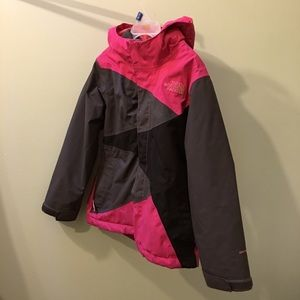 North Face girls 2-in-1 jacket/sweater size 6